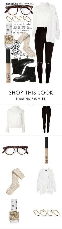 """""""150116"""" by patttiee ❤ liked on Polyvore featuring November, Sacai, River Island, Cutler and Gross, Steve Madden, NARS Cosmetics, H&M, Violeta by Mango, Topshop and ASOS"""