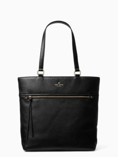 made from a luxurious pebbled leather, the cobble hill tayler--an open-topped tote with a zippered exterior pocket--is both substantial and stylish, a true go-anywhere, carry-anything bag.