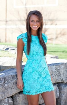 The Pink Lily Boutique - Forever Divine Mint Lace Dress, $44.00 (http://thepinklilyboutique.com/forever-divine-mint-lace-dress/)
