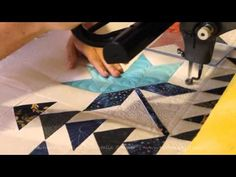 Machine Quilting Coastal Lily quilt block by Natalia Bonner - YouTube