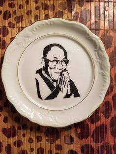 Check out this item in my Etsy shop https://www.etsy.com/listing/459798482/dalai-lama-plate