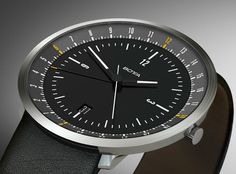 The award-winning Botta-Design has much to take pride about; talk about 50 awards under their belt (including red dot) and the revolutionary modern one-hand watch design Modern Watches, Luxury Watches For Men, Cool Watches, Rolex Watches, World Timer, Hand Watch, Time Zones, Closets, Knights