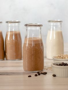 Cold Brew Smoothie | DIVERSE DINNERS Old Fashion Oats, Nut Allergies, Chocolate Coffee, Unsweetened Cocoa, Frozen Banana, Meals For Two, Cold Brew, Hot Sauce Bottles, Food Print