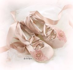 Ballet Flats, Flower Girl, Rose, Blush, Pink, Girl Flats, Confirmation, First Communion, Satin Flats, Bat Mitzvah, Ballet Slippers, Elegant