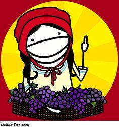 Comic by Natalie Dee: i got yer raisins right here