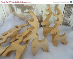 Hand Carved Reindeer by mmullinax on Etsy,