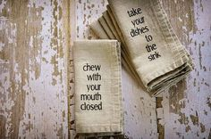 linen mind your manners napkins