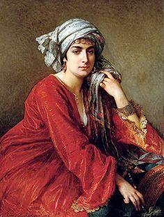 -CESARE FELIX GEORGES DELL'ACQUA (AUSTRIAN, 1821-1904) FEMME ORIENTALE