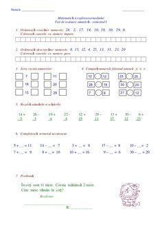 Numele ______________________ ________________Matematic si explorarea mediuluiăTest de evaluare sumativ – semestrul Iă1... Periodic Table, Words, Periodic Table Chart, Horse