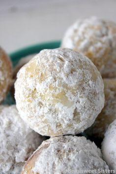 Powdered Sugar Baked Donut Holes