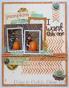 Scrapbook Page by Daniela Dobson using the Mini Chevron Stencil