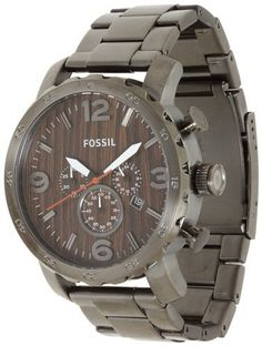 Fossil Nate Stainless Steel Watch - JR1355 Fossil. $119.95. Display Type: Analogue. Case diameter: 50 millimeters. Band width: 24 millimeters. Band length: Men's Standard. Brand, Seller, or Collection Name: Fossil. Special features: measures-seconds, Chronograph, Luminous, Stop watch. Case material: Stainless steel. Part Number: JR1355. Save 17%!