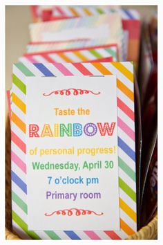 Taste the Rainbow yw personal progress activity. Covers faith 1, divine nature 4, individual worth 4