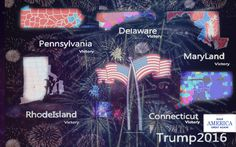 Pennsylvania | RhodeIsland | Connecticut | MaryLand | Delaware  #Victory #Election2016 #Trump 4-26-16