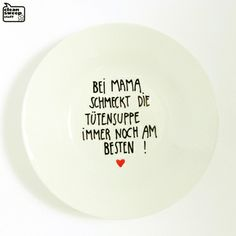 Berliner Mama - Teller / Suppenteller // plate with quote by CleanSweepStuff via dawanda.com