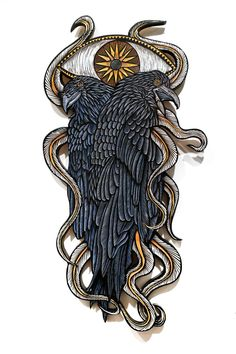 """Philadelphia-based artist Dennis McNett creates incredible artworks out of wood.     """"Dennis McNett, is a storyteller at heart, whose inventive and imaginative personal mythology about the world directly translates into the lively works he creates. Drawing from varied sources, including traditional folklore as well as popular culture stories, he continues to innovate while still honoring age-old traditions.""""    More art on wood via Booooooom"""