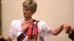 A newlyed Princess Diana dancing at Balmoral Castle at the Ghillies Ball.