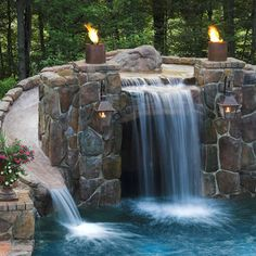 Cincinnati Home Pool Waterfalls Builder Design, Pictures, Remodel, Decor and Ideas