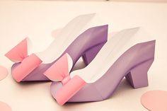 HIGH HEEL Favor Box - DIY Printable Shoe with Bow