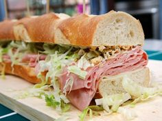 Get Giant Mortadella Sub Recipe from Food Network