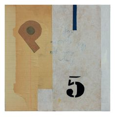 'et pourtant' collage on plywood