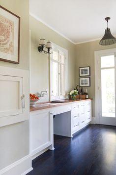 CORK FLOOR ~  Historical Colonial in Pasadena - traditional - kitchen - los angeles - Charmean Neithart Interiors, LLC.