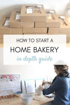 Do you want to learn how to start your own home bakery? How to make money, how to pass a health inspection and how to build your brand? If so- check out my IN-DEPTH guide! Bakery Business Plan, Writing A Business Plan, Baking Business, Business Names, Business Planning, Business Ideas, Catering Business, Business Opportunities, Business Logo