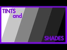 Tints and Shades Art Videos For Kids, Art Lessons For Kids, Art Lessons Elementary, Elements And Principles, Elements Of Design, Art Elements, Middle School Art, Art School, Value In Art