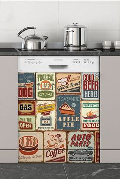 Vintage, Sticker Lave-vaisselle
