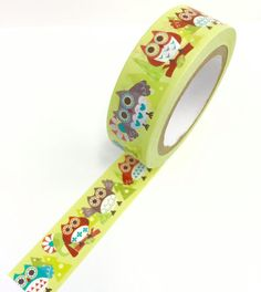 Owl  Washi Tape Scrapbooking Decoration by PlayingWithColor2