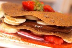 Raw pannekaker med sjokoladekrem og vaniljefyll - Elin Larsen