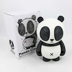 "Cacooca - 7.5"" Panda Classic - Collect and Display"