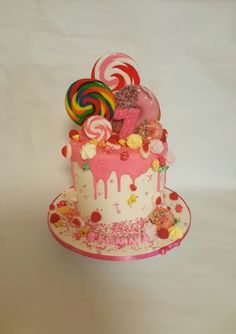 Drip cake - Cake by Galyna Harb Candy Cakes, Cupcake Cakes, Cupcakes, Drip Cakes, Edible Art, Sweet 16, Amazing Cakes, Birthday Candles, Internet
