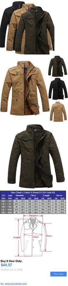 Men Coats And Jackets: Mens New Winter Casual Jacket Thick Coat Warm Collar Outerwear Overcoat Parka BUY IT NOW ONLY: $44.57 #priceabateMenCoatsAndJackets OR #priceabate