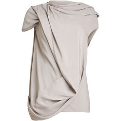Rick Owens Draped Tunic (29.405 RUB) ❤ liked on Polyvore featuring tops, tunics, grey, gray tunic, draped tops, grey tunic, gray top and rick owens tunic