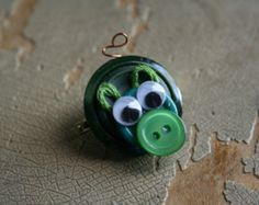 Button Pig pin -- Corsage or Boutonniere