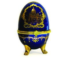 "Faberge Egg Porcelain Figure 2 ""St. Isaac's Cathedral"" « MyMallHome.com – Closest Shopping Mall on the Internet"
