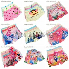 Boys Kids Monkey Print Boxer Underwear Cotton Children Kid Short Underpant Beat