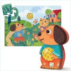Djeco Puzzle Hund Wouaf! Wuof! für Kinder ab 3 Jahren
