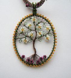 Magnolia Tree Draht gewickelt und mit von LouiseGoodchild auf Etsy