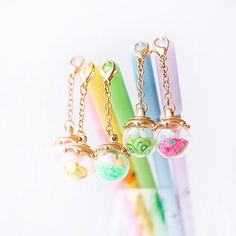 Hey, I found this really awesome Etsy listing at https://www.etsy.com/listing/472738256/kawaii-pens-with-fruit-crystals-pendant