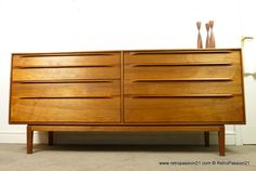 Danish Teak Chest of Drawers by Ib Kofod Larsen for Fredericia Mobler