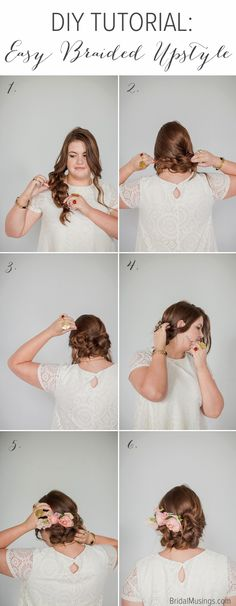 Step by Step Braided Upstyle | Bridal Musings Wedding Blog