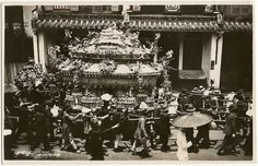 Chinese funeral photo: Singapore Chinese Funeral 1934 RP postcard ...