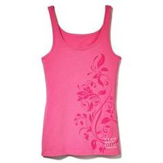 Avon Walk Deep Pink Floral Tank in Size Small only