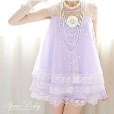 "KAWAII PASTEL DRESS TOP one size: length: 77cm/30.31"" ; bust: 92cm/36.22"" ; shoulder length: 33cm/12.99"" ; sleeve length: 16cm/6.3"" ; sleeve width: 20cm/7.87"" suggest for weight within 62.5 kg  color: light purple"