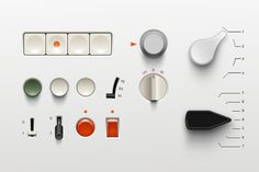 designbinge: Braun UI by Adrien Olczak. Artwork made out of Braun products from the by the legendary Dieter Rams Interaktives Design, Flat Design, Design Trends, Detail Design, Dieter Rams Design, Braun Dieter Rams, Braun Design, Ui Design Inspiration, User Interface Design
