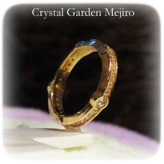 "Full eternity ring of cubic zirconia - A crystal, an angel, and healing one-house house"" Crystal Garden Mejiro "" Full Eternity Ring, Crystal Garden, Healing, Wedding Rings, Angel, Engagement Rings, Crystals, House, Jewelry"