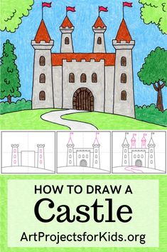 Easy Drawings For Kids, Drawing For Kids, Art For Kids, Toddler Drawing, Kids Fun, Fairytale Drawings, Fairytale Art, Art Education Projects, Easy Art Projects
