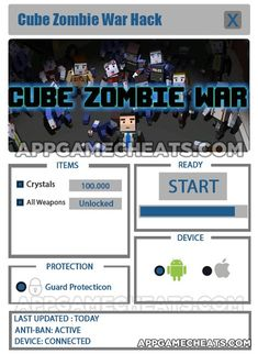 Cube Zombie War Hack & Cheats for Crystals & All Weapons Unlock  #Action #CubeZombieWar #Strategy http://appgamecheats.com/cube-zombie-war-hack-cheats/